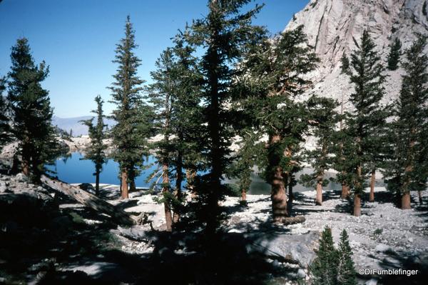 Mt. Whitney hike 09-1994 (6) Lone Pine Lake