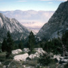 Mt. Whitney trail with views of the Owens Valley
