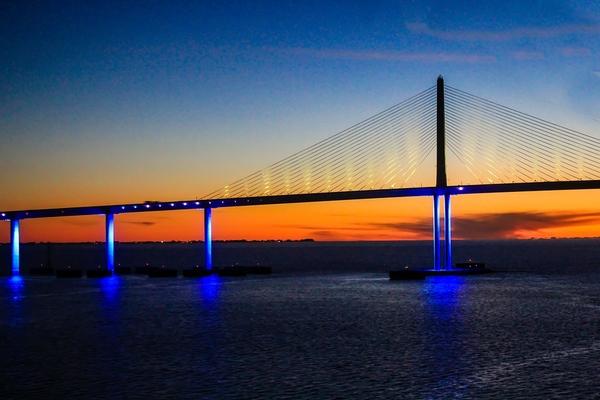 Skway Bridge at Night