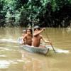 Children in canoe, Orosa River
