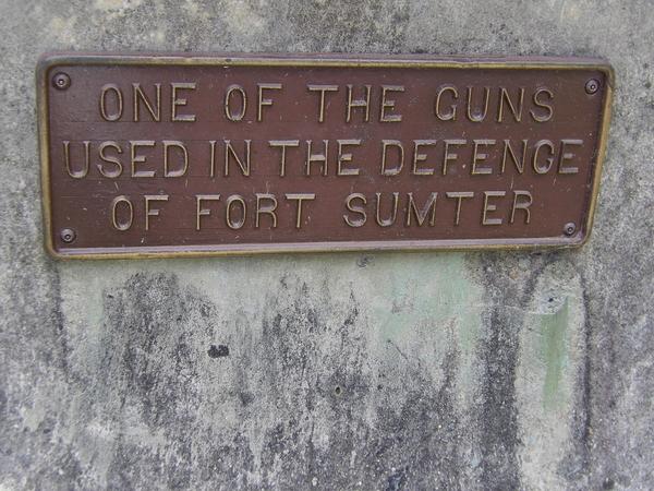 Fort Sumter Signage