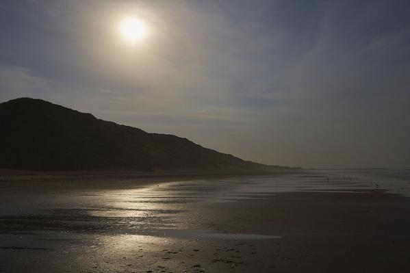 Beach and dunes dusk. w