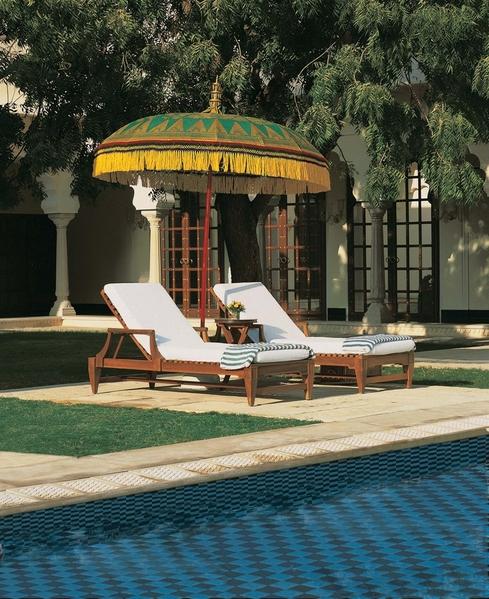 Pool Side - The Oberoi Vanyavilas, Ranthambhore