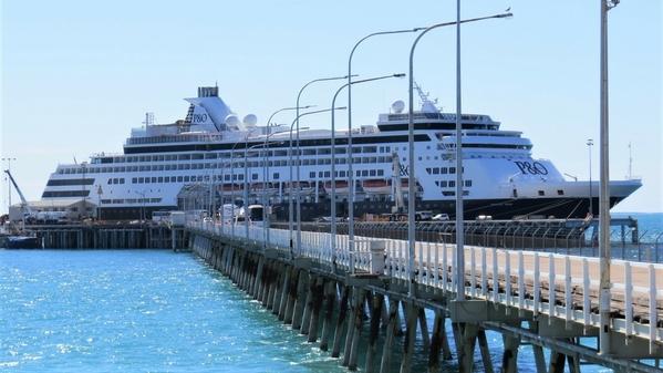 Cruise ship at Broome