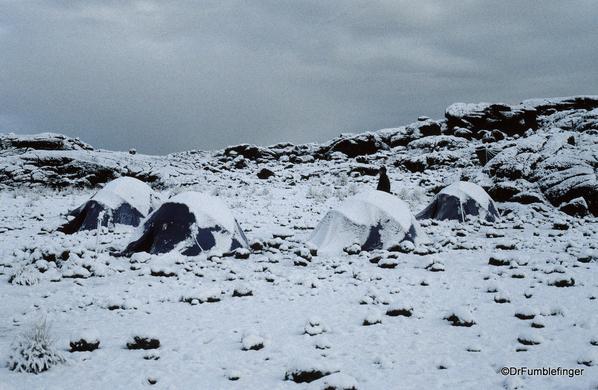 Spare Tanzania photos 03-1999 (26). Mt. Kilimanjaro, Sheefield Camp