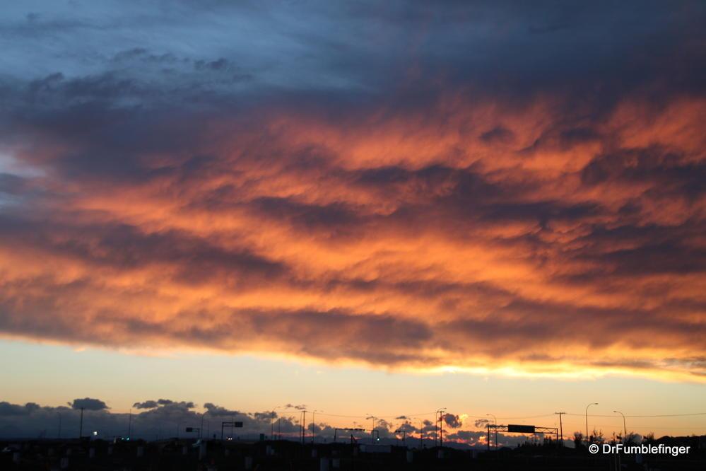 Sunset over Calgary, Alberta