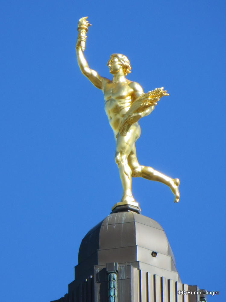 """Golden Boy"", atop the Manitoba Legislature Building, Winnipeg, Manitoba Canada"