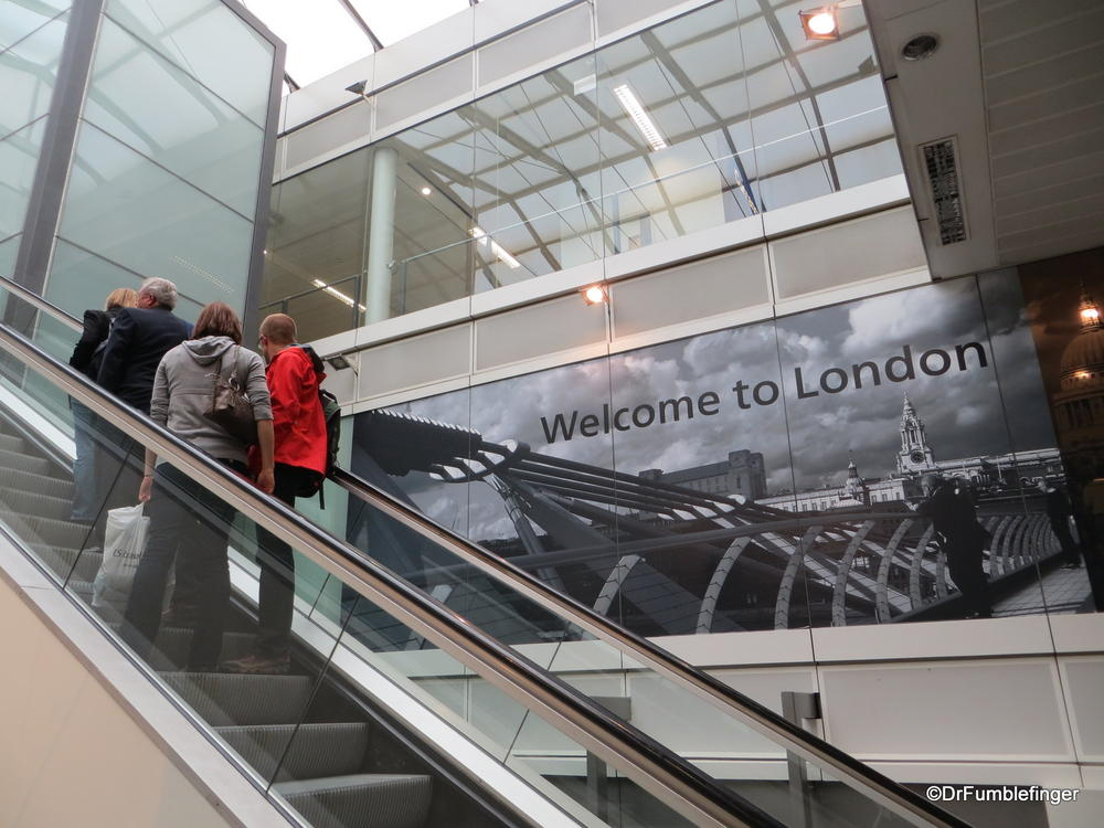 Making the transfer at Heathrow International Airport