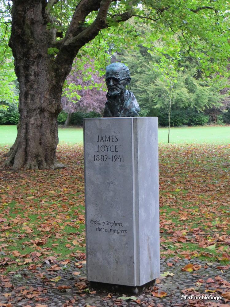 James Joyce Bust, St. Stephen's Green, Dublin, Ireland