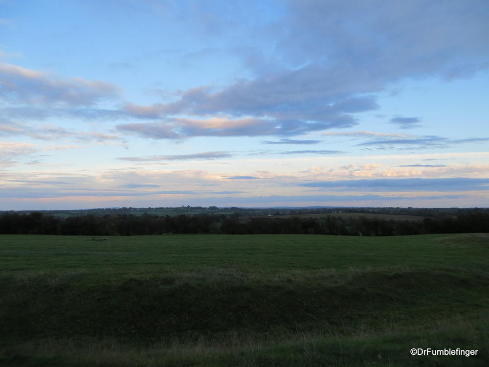 Sunset viewed from the Hill of Tara, Valley of the Boyne, Ireland