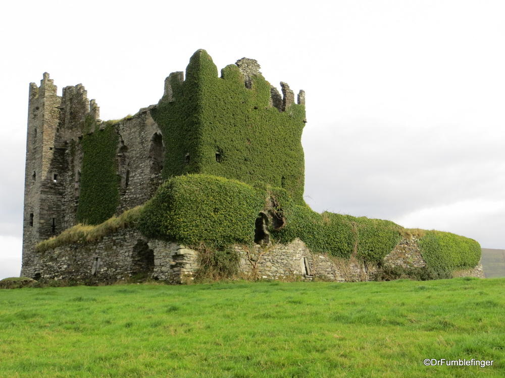 Castle ruins, near Cahersiveen, Ring of Kerry, Ireland