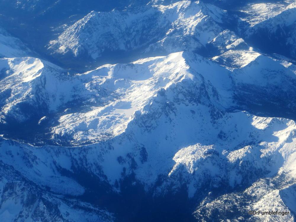 Frozen lake and snow, Cascade Mountains, Washington