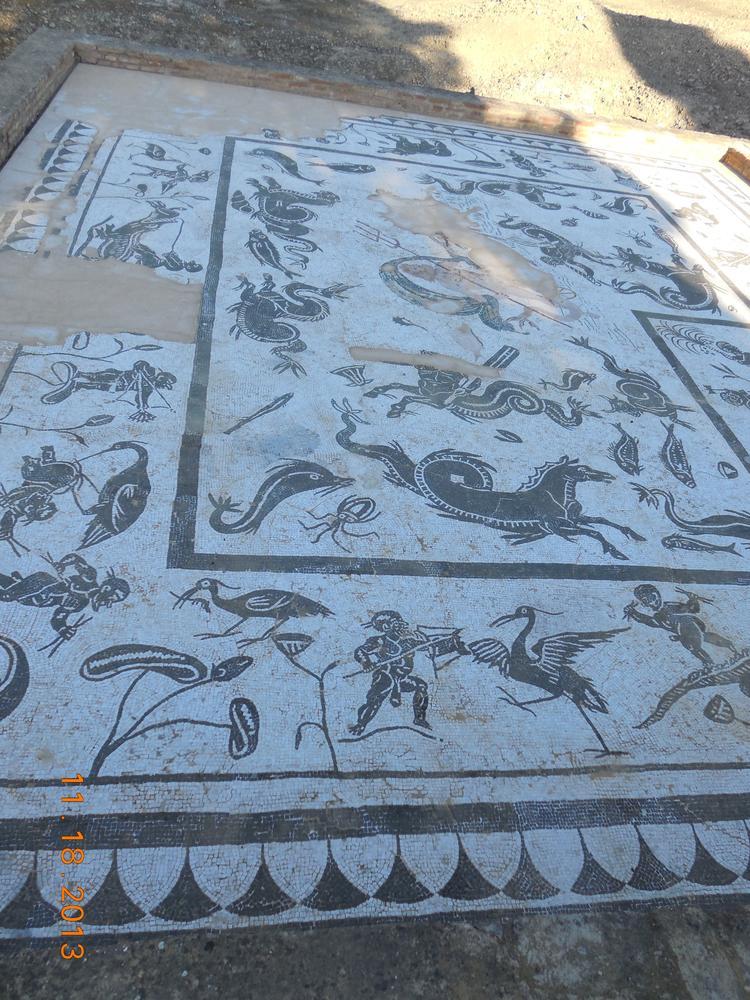 Roman Tiles Italica, Spain