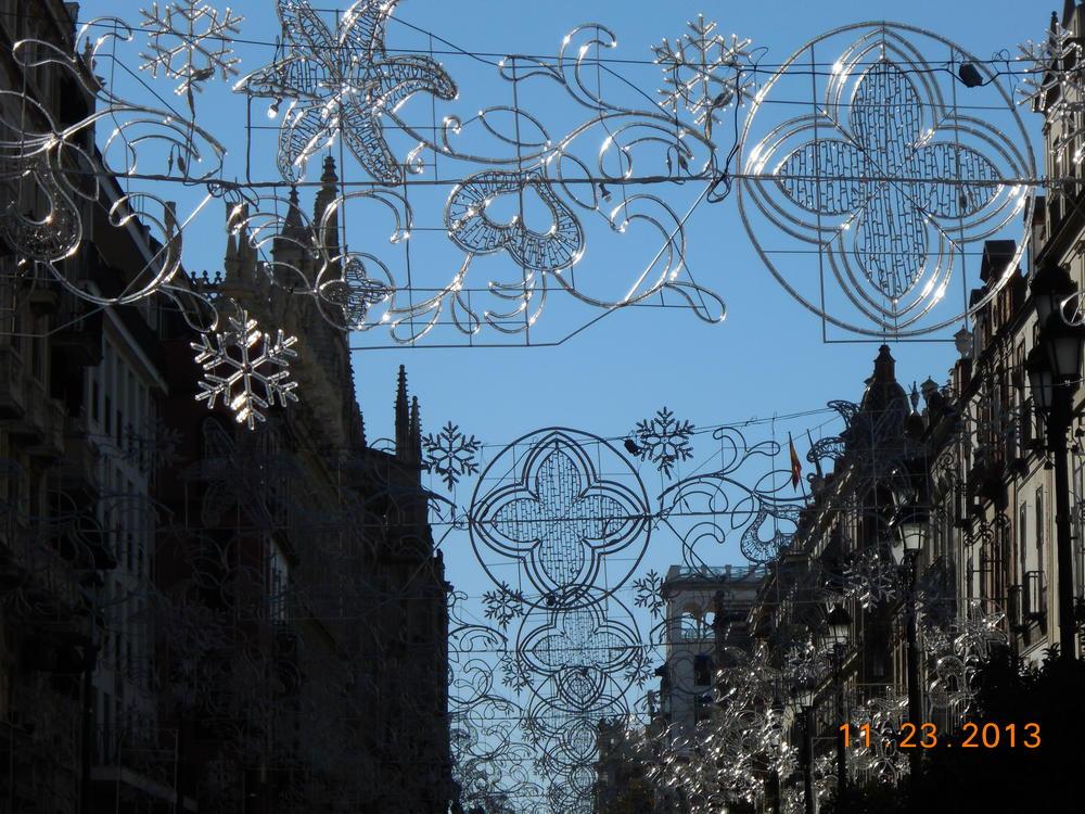 Christmas decorations, Seville, Spain