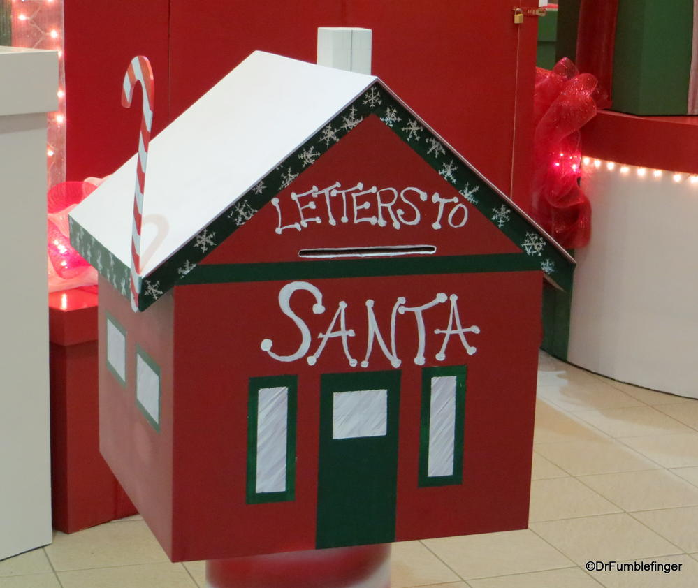 Just over 2 weeks to Christmas.  Be sure you get your letters mailed to Santa