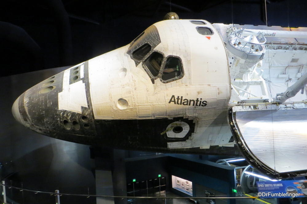 Space Shuttle Atlantis, now on display at the Kennedy Space Center, Florida