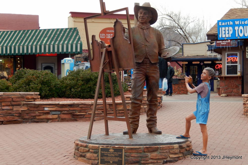 Sedona AZ-sculpted child photographs sculpted painter!