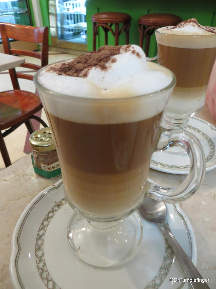 Buenos Aires -- Cappucino in one of the city's many cafes
