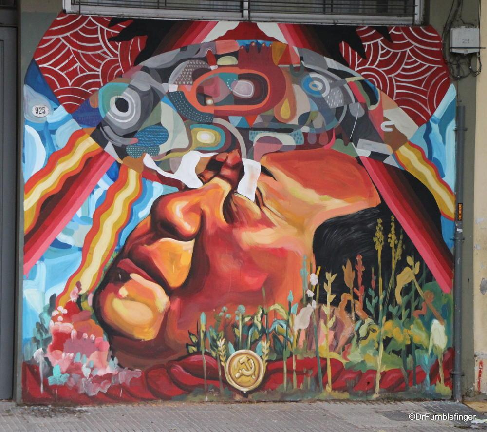 "Buenos Aires, Villa Crespo.  This street art by ""Ever"""