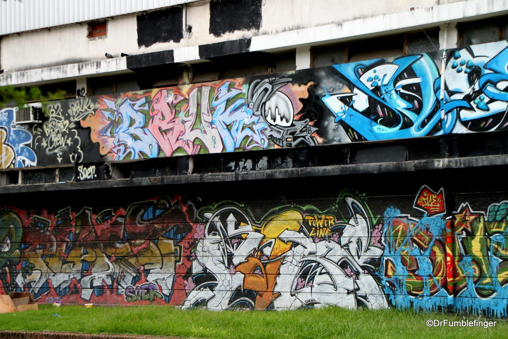 Buenos Aires, Colegiales.  Street art on Powerplant station