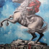 "Buenos Aires, Colegiales.  I call this one ""Spray painting gaucho"""