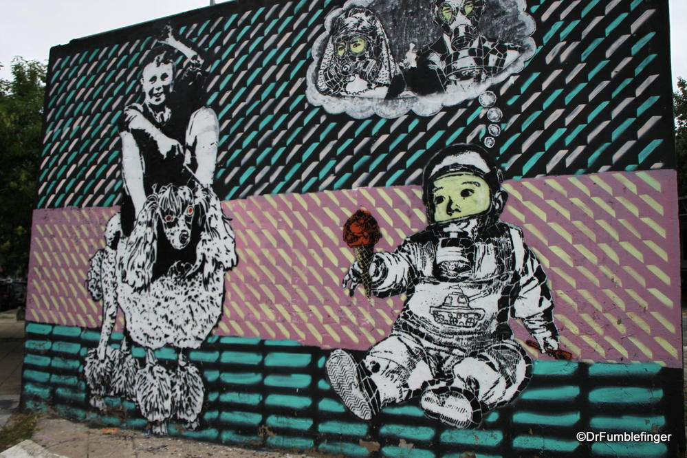 Buenos Aires, Street art on Chacarita walls