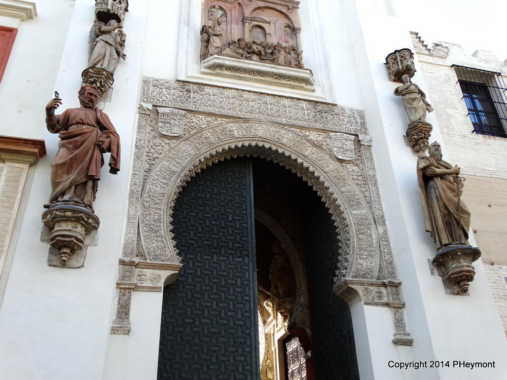 Moorish entrance to Seville's cathedral