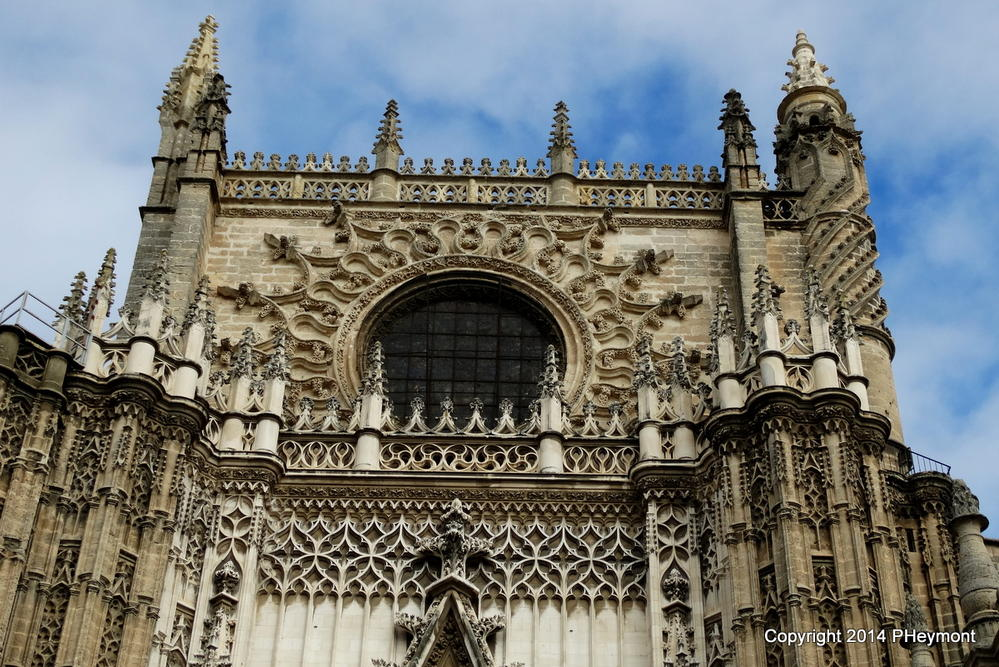 Detail above Cathedral Entrance, Seville