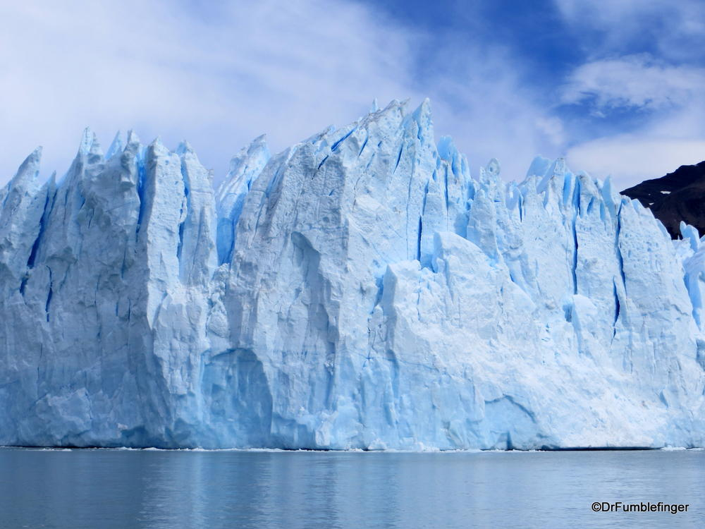 Water level view (from cruise boat) of Patagonia's Perito Moreno Glacier, Argentina