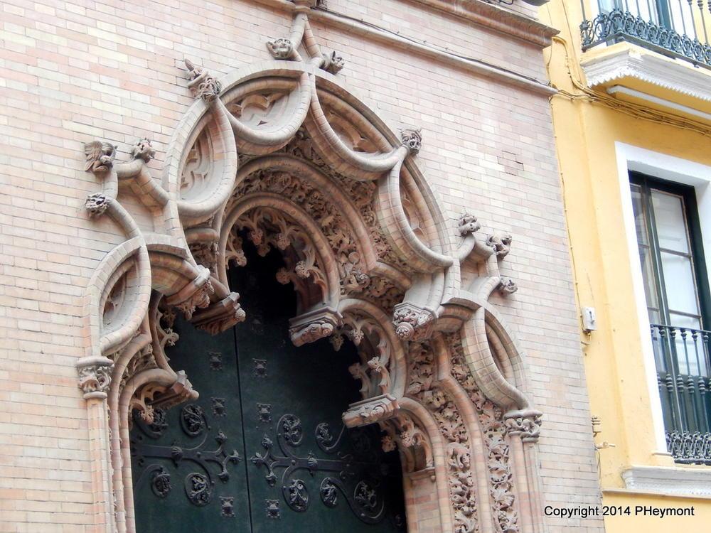 Stone fancy-work on Seville church