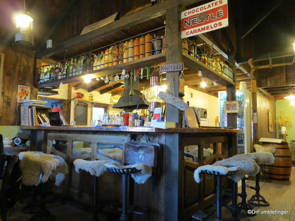 Bar area in one of El Calafante's many fine restaurants