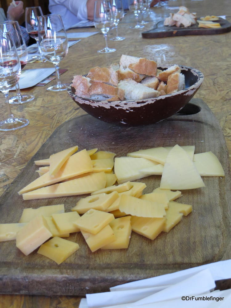 Wine Tasting, El Calafante.  Some wonderful Argentenian cheese and fresh bread to go with that wine