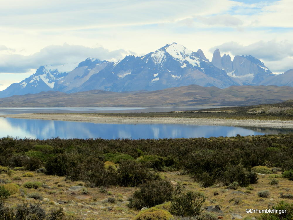 Our first views of Torres Del Paine National Park, Chile