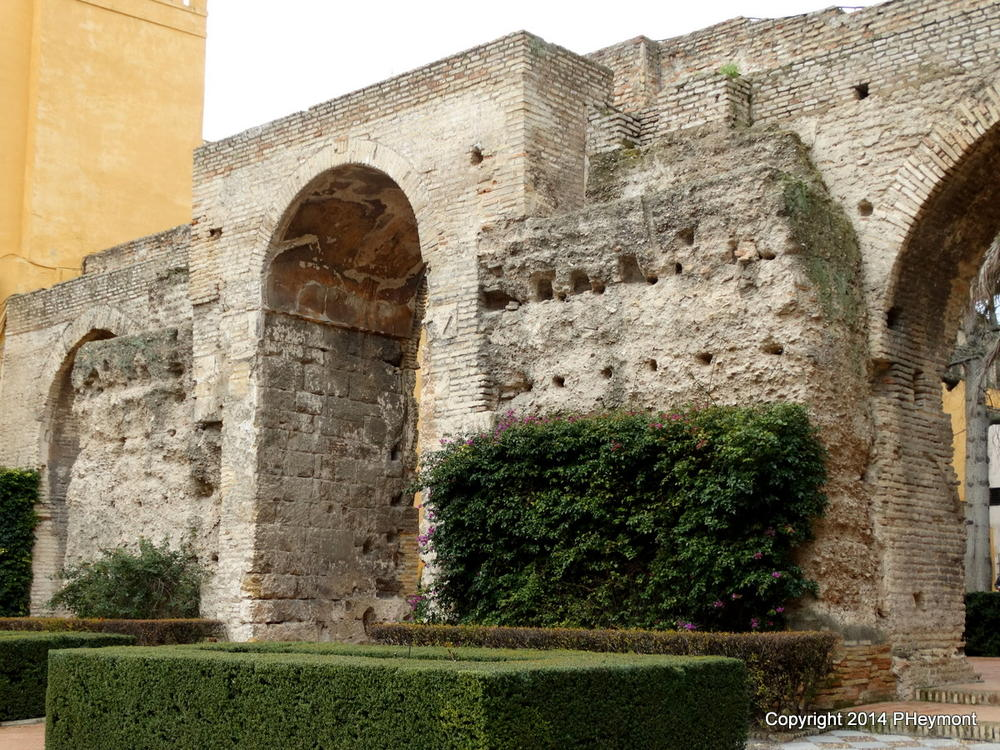 10th-century wall in Real Alcazar, Seville