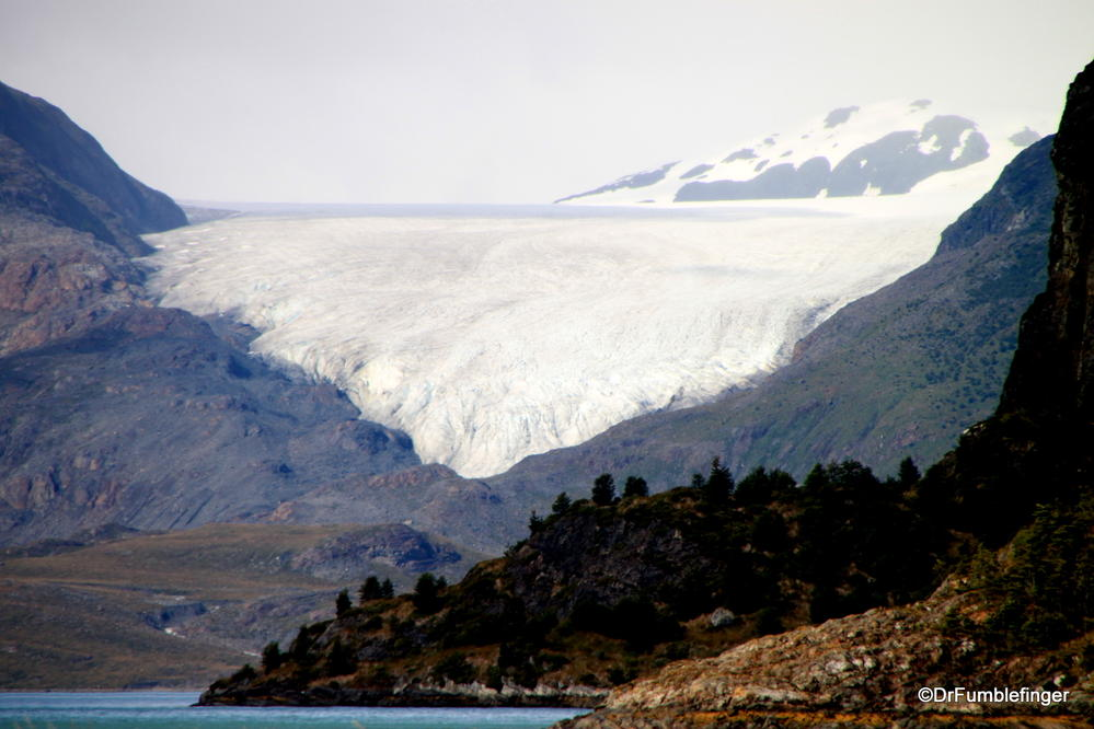 Marinelli Glacier viewed from Tierra Del Fuego, Chile