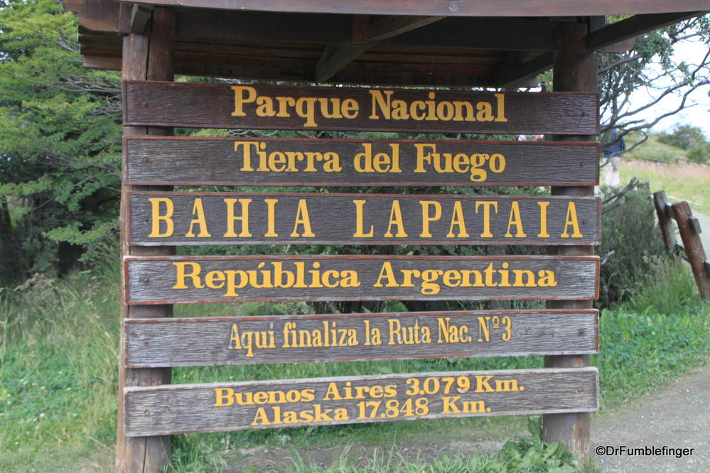 End of the Pan Am Highway, Tierra Del Fuego National Park, Argentina