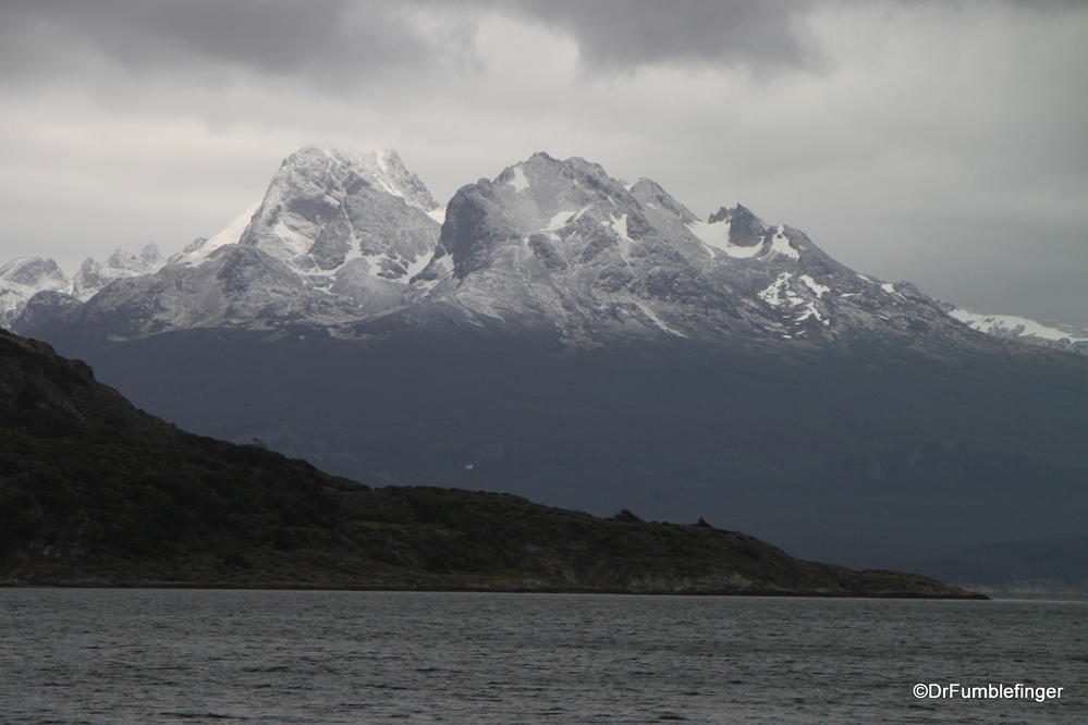 Fresh snow on the mountains, Tierra Del Fuego National Park, Argentina