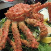 Our last dinner in Patagonia.  Patagonian king crab.  Fantastic!!