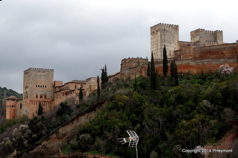 Alhambra, seen from Albaicin