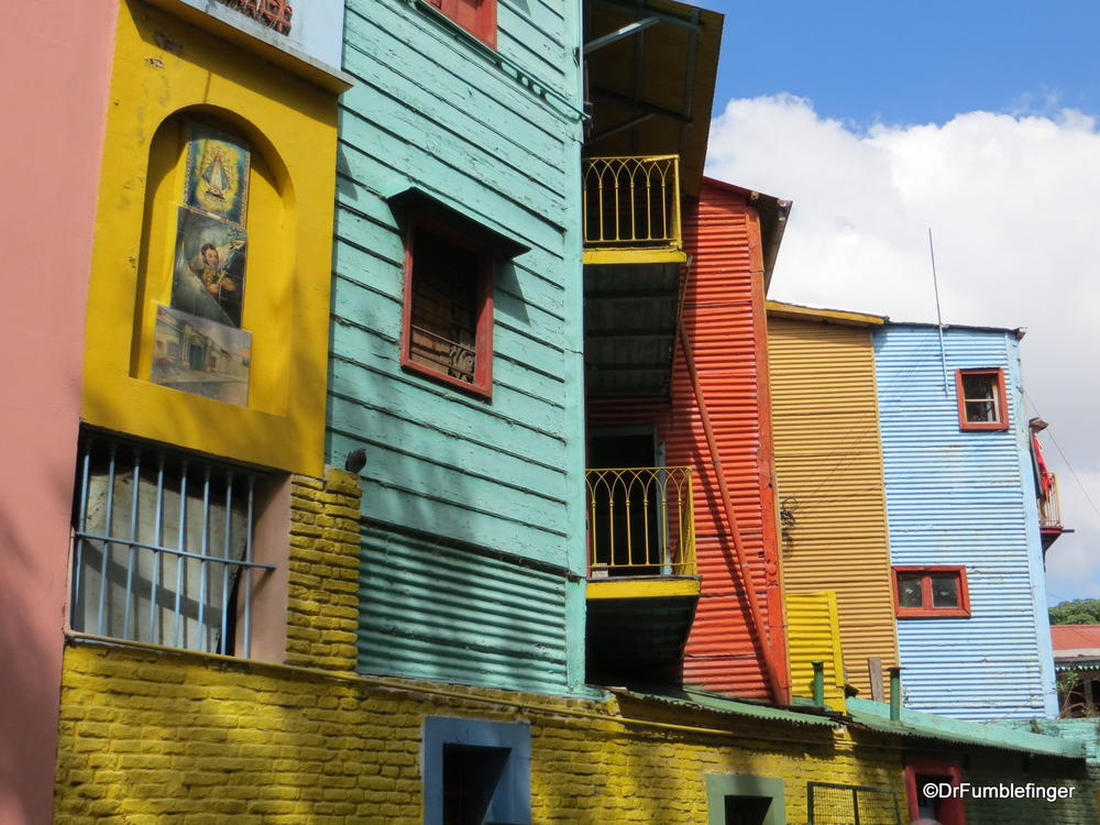 La Boca, a rough working class neighborhood in Buenos Aires known for it's colorful homes