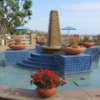 Newport Beach, California.  Fountain
