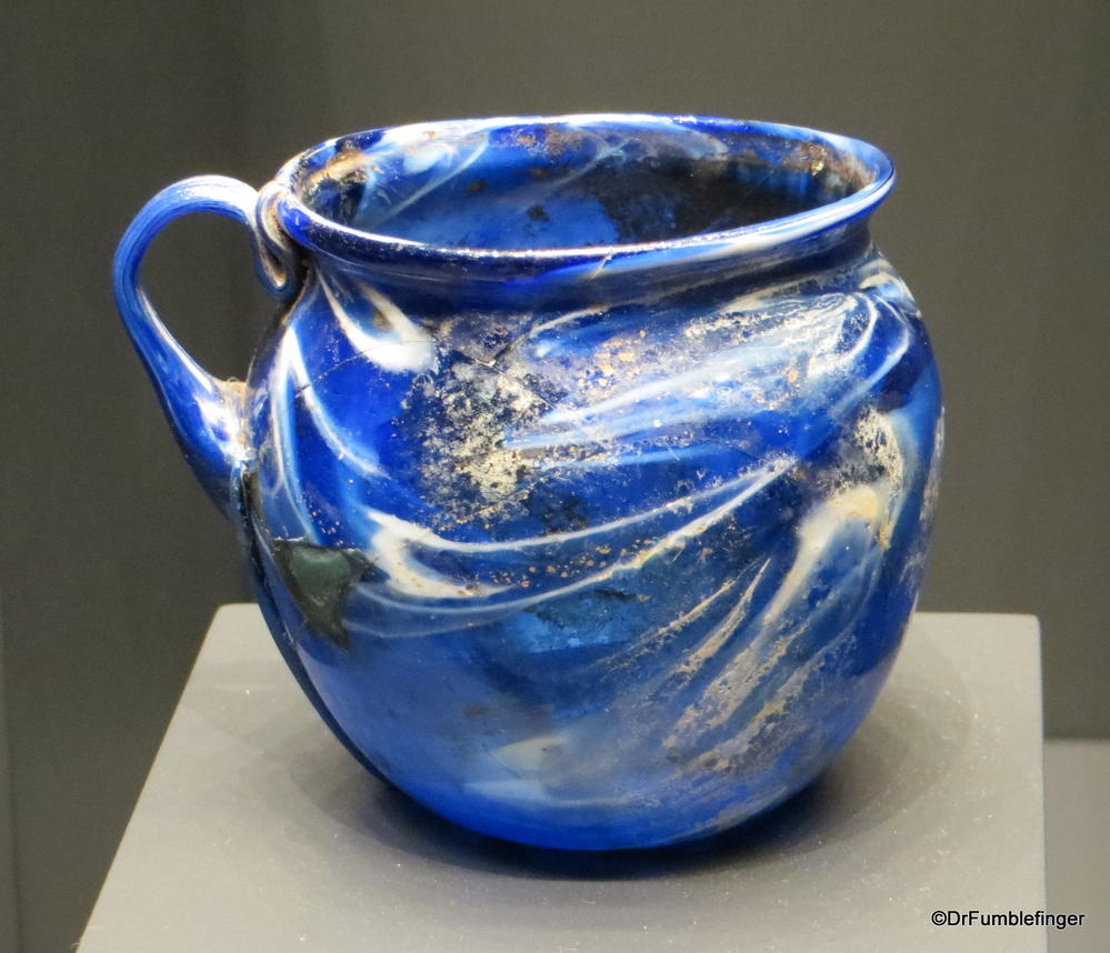 Ancient Roman Glass, The Getty Villa, Malibu, California