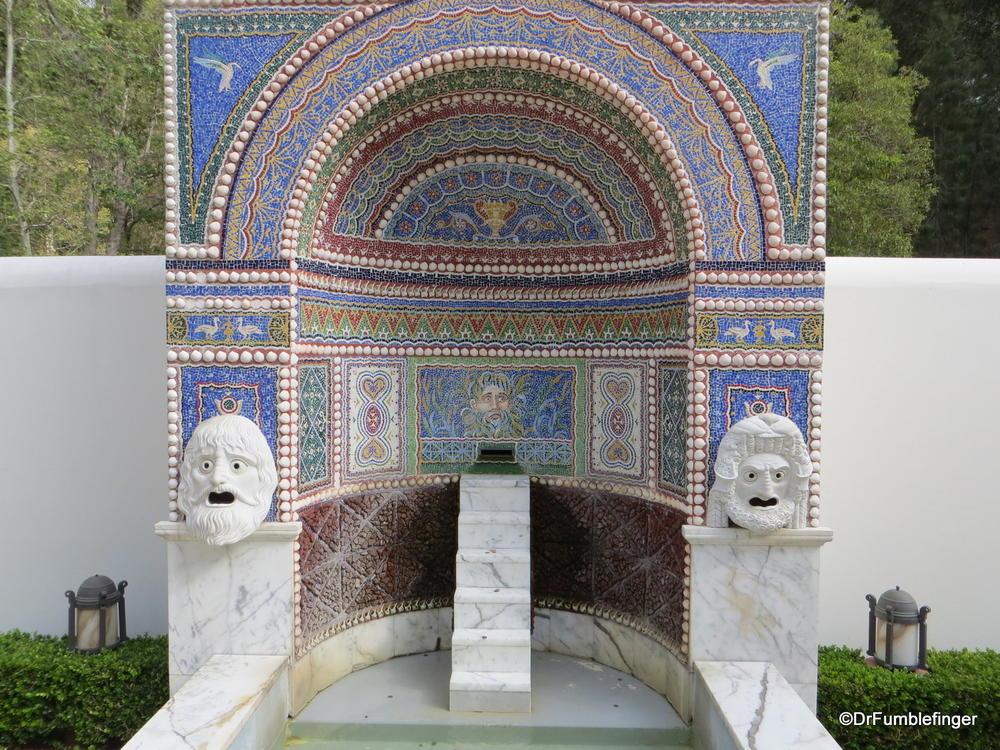 Fountain From The East Garden The Getty Villa Malibu