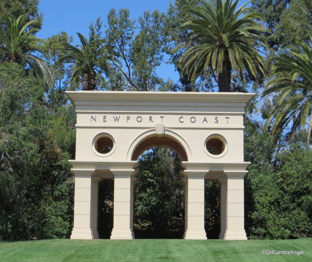 Newport Coast sign, Newport Beach, California