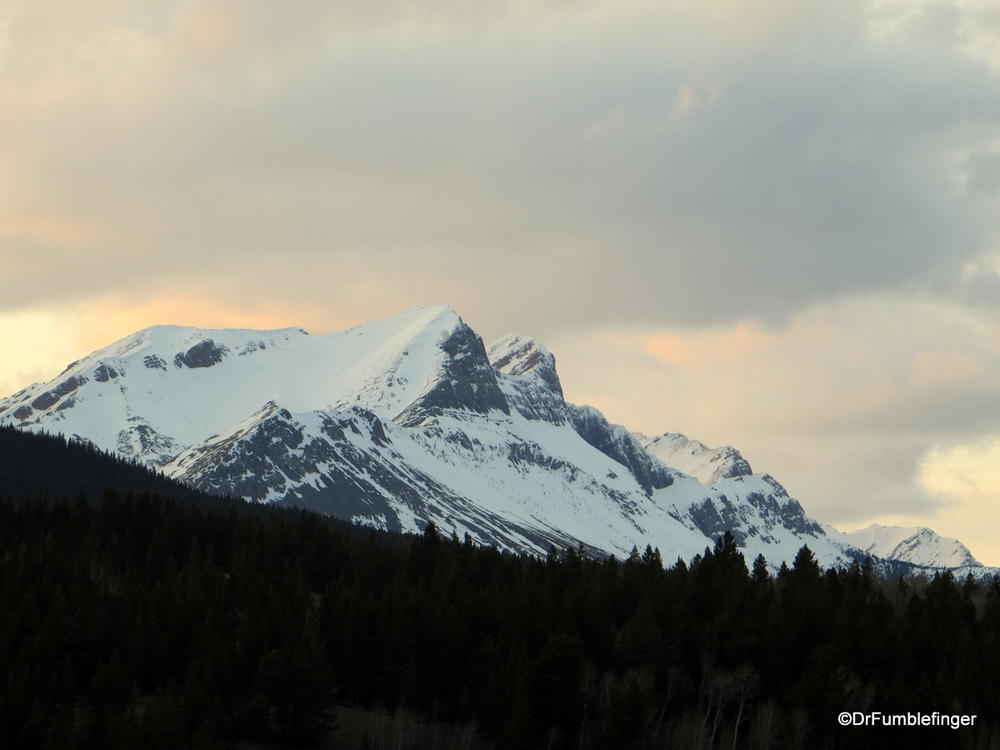 Sunset over Crowsnest Mountain, Crowsnest Pass, Alberta