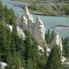 Hoodoos, Bow River Valley, near Banff