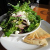 Rocky Mountain Flatbread co. Fig and Goat cheese salad