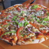 "Rocky Mountain Flatbread co.  ""Naturally Meat"" pizza"