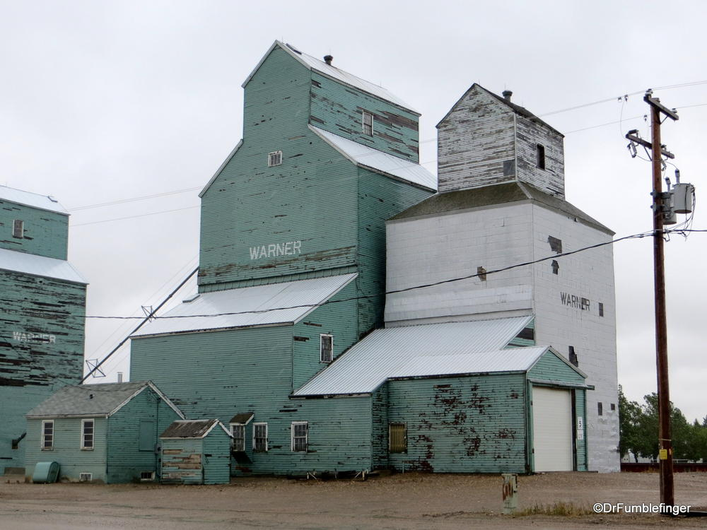 Grain elevators, Warner, Alberta