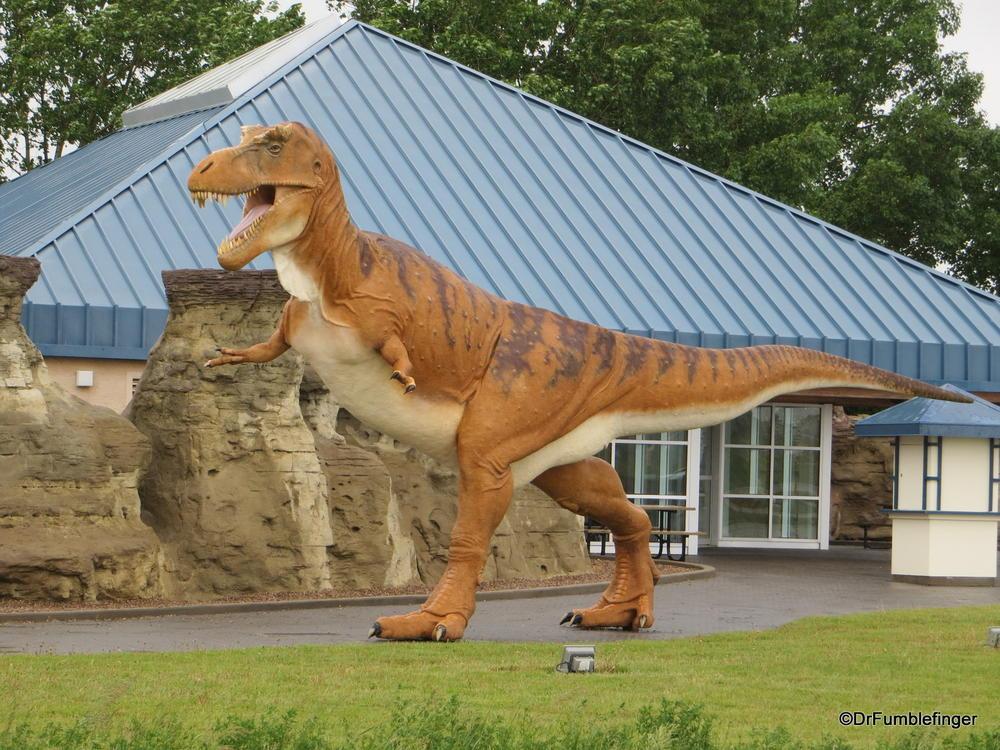 Dinosoaur stalking the Visitor Center, Milk River, Alberta